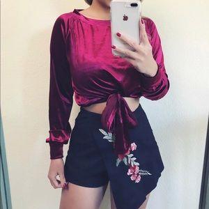 Tops - Lady in red velvet top